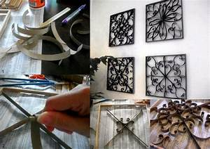 How to make pretty wall decor with toilet paper roll ...