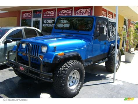 jeep metallic 1988 spinnaker blue metallic jeep wrangler 4x4 32391927