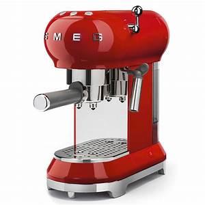 Machine À Café À Piston : smeg 50 39 s retro style machine caf piston rouge acheter en ligne manor ~ Melissatoandfro.com Idées de Décoration
