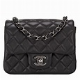 Chanel Black Quilted Lambskin Square Mini Classic Flap Bag | World's Best