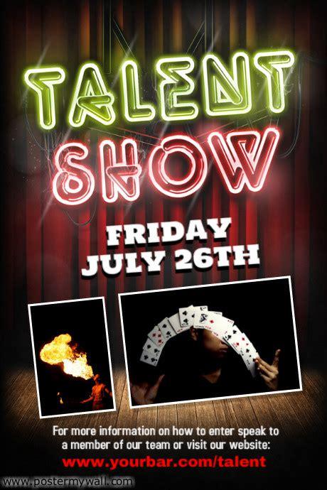 talent show poster website wordpress blog