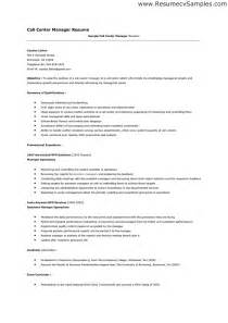 Resume Objective For Call Center by Banking Customer Service Sle Resume Resume Cv Cover