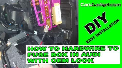 Audi Fuse Box Repair Wire by How To Hardwire Acc Wire Oem Look In Audi A4 A5 Q5 A6 B8