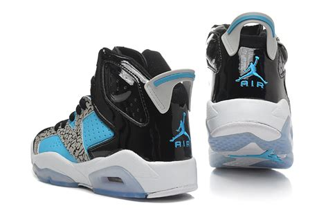 Blue and Black Air Jordan Retro 6