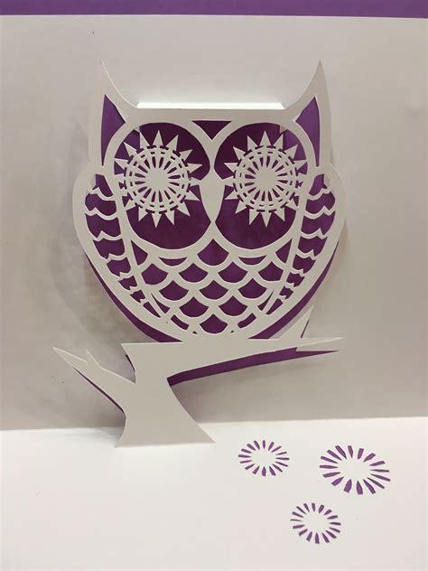 owl pop up card template owl pop up card template from cahier de kirigami 18