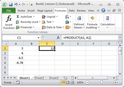 Product Modification Definition And Exle by Ms Excel How To Use The Product Function Ws