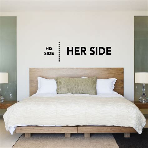 Bedroom Wall by His Side Side His Hers Bedroom Wall Sticker Decal
