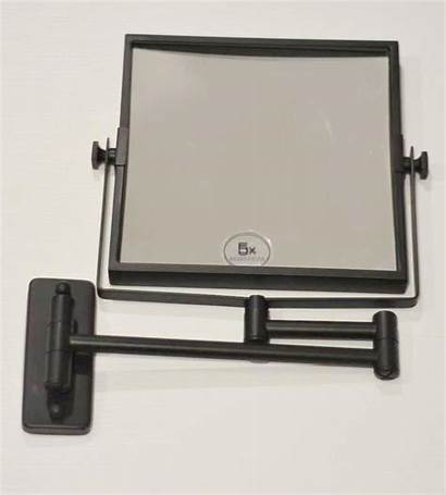 Mirror Mounted Shaving Magnification Matte Square 5x