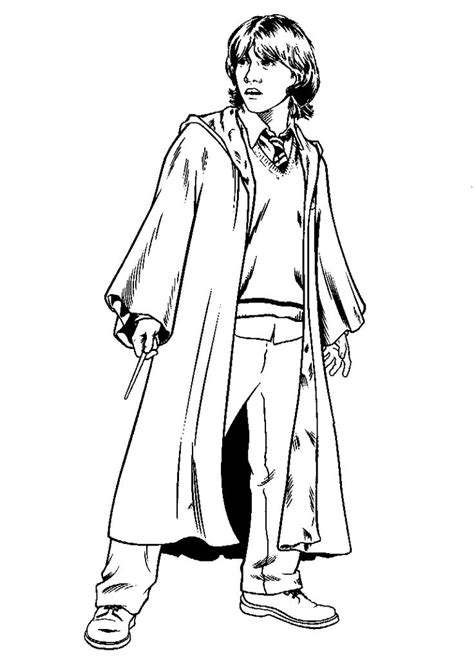 Ron Weasley - Coloring page : Harry Potter – Coloring.me