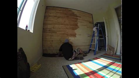 Time Lapse Video Of Me Staining My Son's Wood Paneled