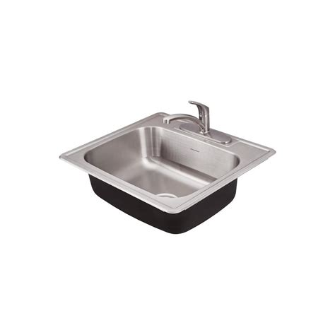drop in single bowl kitchen sink american standard colony pro drop in stainless steel 25 in 9624