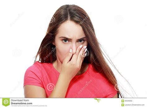 Holding Her Nose Stock Photo  Image 63326050