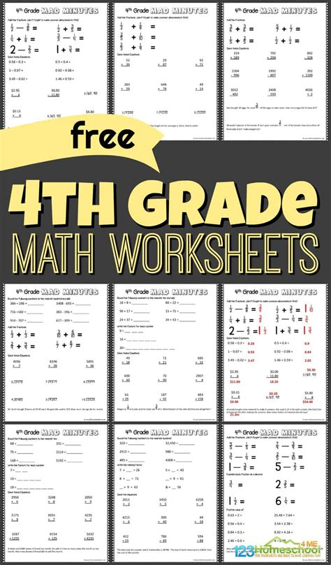 Free dynamically created math multiplication worksheets for teachers, students, and parents. FREE 4th Grade Math Worksheets