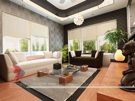 gallery interior  rendering  interior