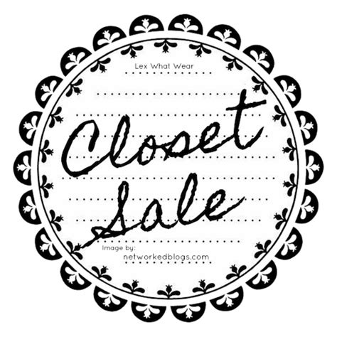 Closet Sale by Closet Sale From What Wear