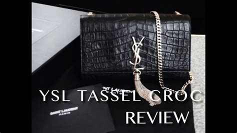 ysl medium monogram tassel bag satchel review youtube