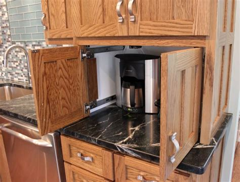 pocket door kitchen cabinets built in coffee maker pocket doors out eagle cabinets 4298