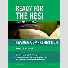 2019 Hesi A2 Reading Comprehension Estudy Guide Download And Study R  Ready For The Hesi
