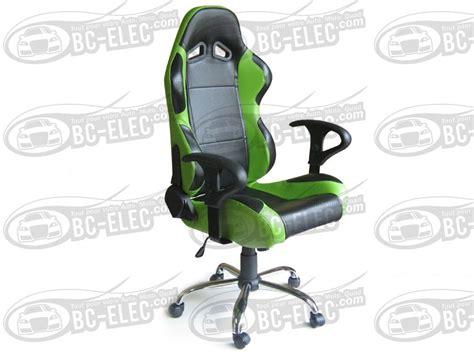 siege baquet fauteuil de bureau cuir vert 1 noir pied