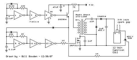 Capacitor Discharge Ignition Circuit (cdi) Circuit Diagram