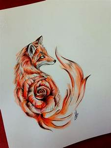 Drawn fox pinterest - Pencil and in color drawn fox pinterest