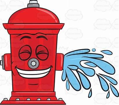 Hydrant Fire Water Clipart Cartoon Emoji Flushing