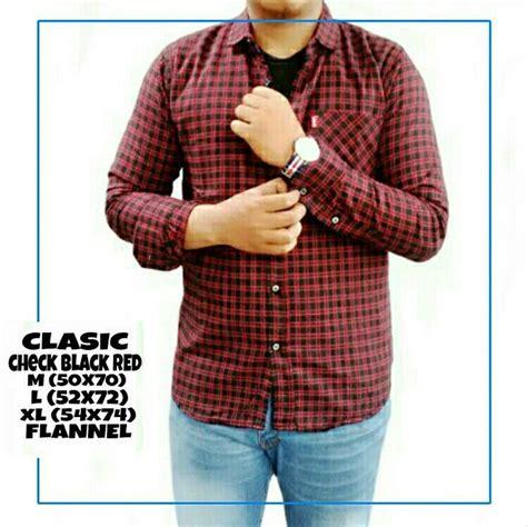 jual baju kuliah slim kemeja terbaru flannel hitam merah jual baju kuliah slim kemeja terbaru flannel hitam merah classic 09c di lapak kacamata baca