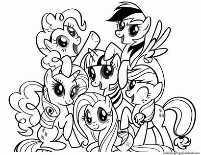 Pony Coloring Friendship Magic Pages Mlp Printable