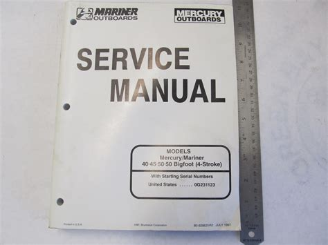 Boat Service Manuals by 1997 Mercury Mariner Outboard Service Manual 40 50 4