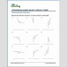 Grade 5 Math Worksheet  Geometry Classify And Measure Angles  K5 Learning