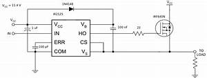 mosfet high side driver ir2125 electrical engineering With datasheet what is quotinput hysteresisquot electrical engineering stack