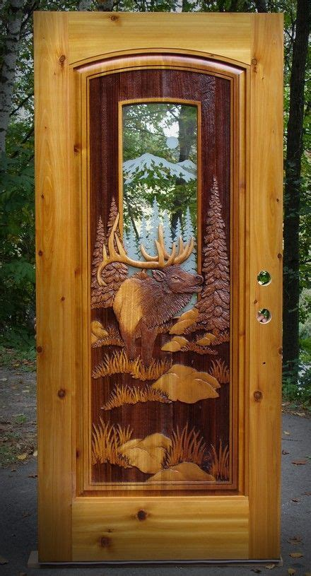 mountain elk etched glass ds