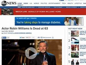 ABC News apologizes for aerial shots of Robin Williams ...