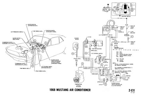 1968 Mustang Air Conditioning Wiring Diagram 1968 mustang wiring diagrams and vacuum schematics