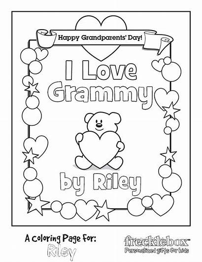 Coloring Grammy Personalized Frecklebox Boys Printable Age
