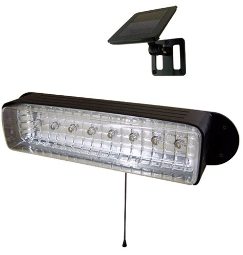 new outdoor garden 8 led solar shed eaves work light l