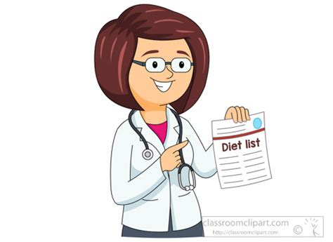 Medical Clipart- Female-doctor-showing-diet-list