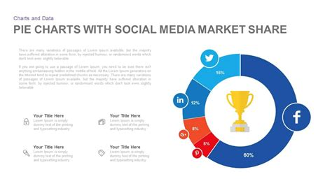 pie chart  social media market share powerpoint