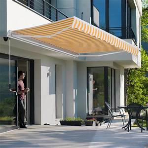 10 U2018x8 U0026 39  Manual Retractable Patio Awning Deck Window Sun