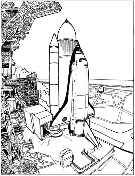 Space Shuttle Kleurplaat by Print Spaceshuttle Kleurplaat Coloring Space