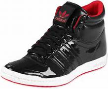 adidas Adidas Top Ten High Sleek Bow W shoes black white red  Adidas Shoes High Tops Red
