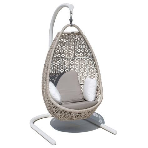 rattan hanging chair slide view 2 knotted melati hanging