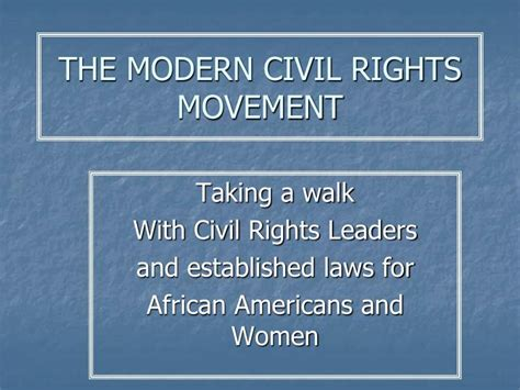 the modern movement ppt the modern civil rights movement powerpoint presentation id 6836690