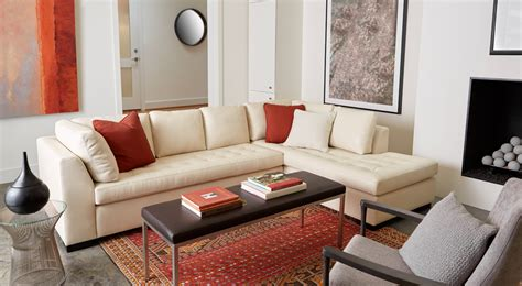 American Leather American Upholstery by American Leather Astoria Sectional Sofa Living Room