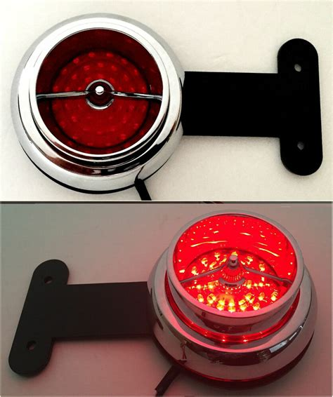 dodge ford truck red led taillights hot rod stake pocket