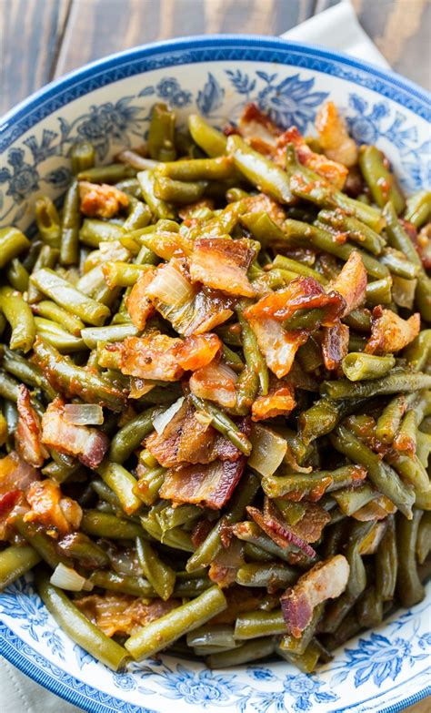 Slow Cooker Barbecued Green Beans  Spicy Southern Kitchen