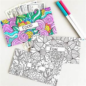 Coloring Design Horizontal Cash Envelopes  Printable