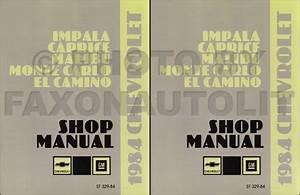 1984 Chevy Repair Shop Manual Reprint Set