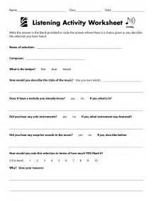 Active Listening Activities Worksheets