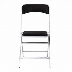 Chaise Pliante Noire : location chaise apolline velours noire pliante abc location toulouse ~ Teatrodelosmanantiales.com Idées de Décoration